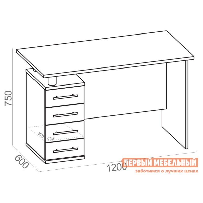 Письменный стол  КСТ-106.1 Дуб Юкон (фото 4)