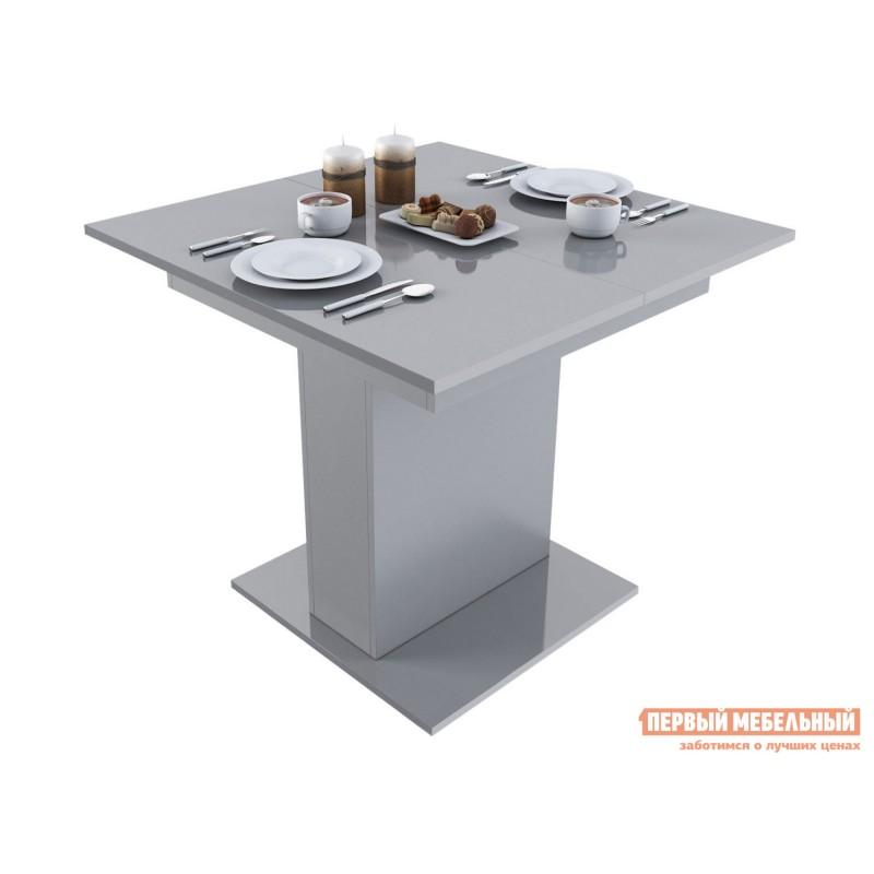 Кухонный стол  Стол обеденный Бергамо 4 Серый глянец