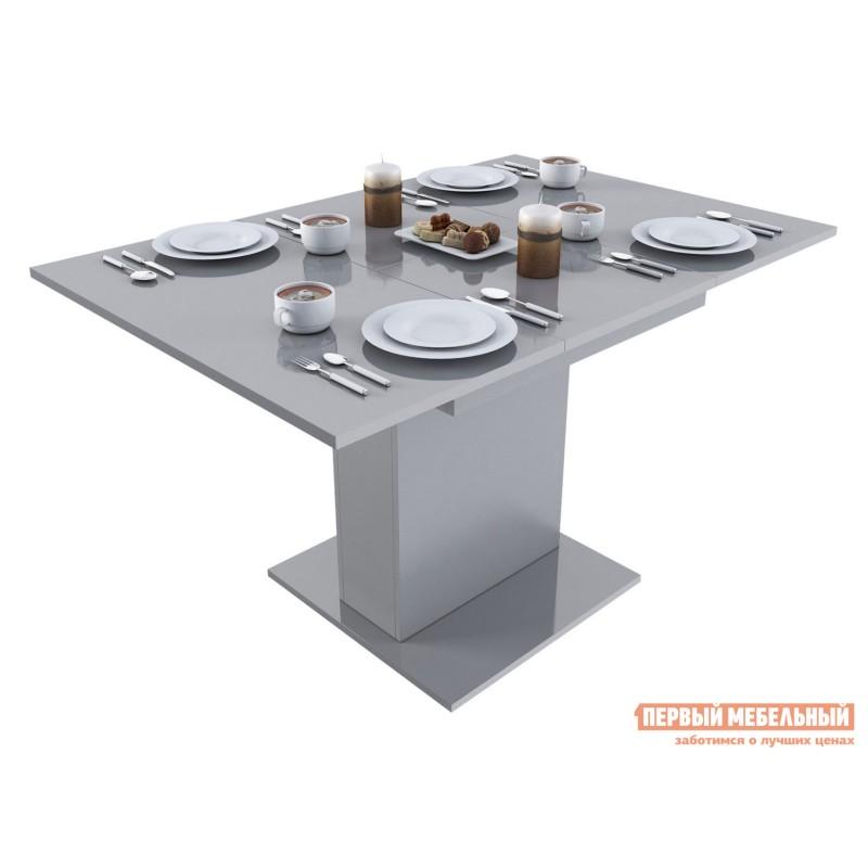 Кухонный стол  Стол обеденный Бергамо 4 Серый глянец (фото 2)