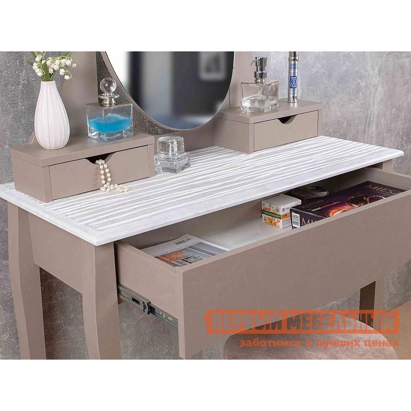 Туалетный столик  Брауни 43 Мокко / Белый (фото 3)