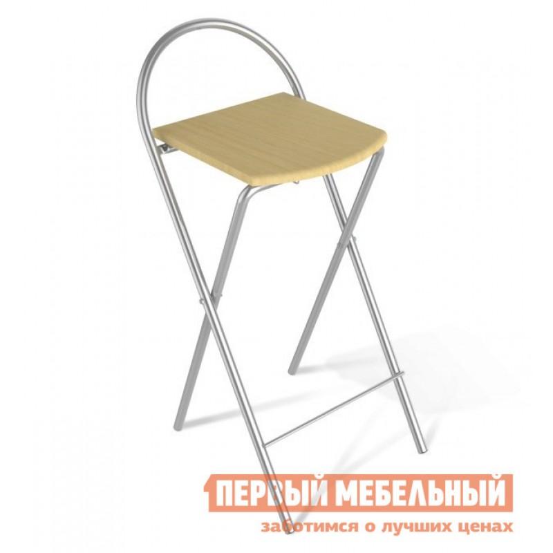 Барный стул  SHT-S61 Бук / Ал. металлик