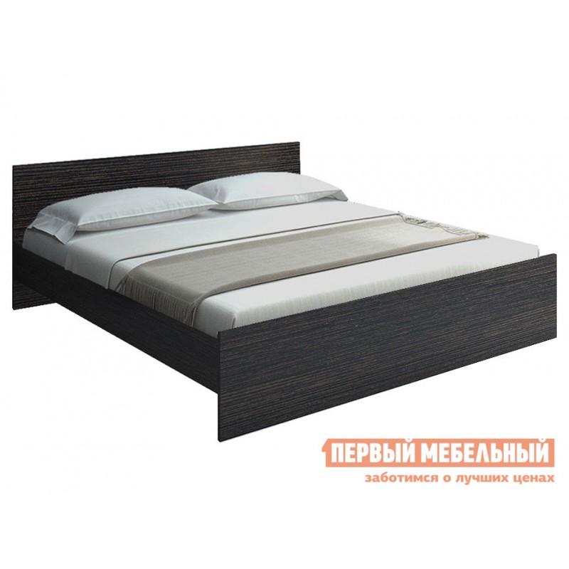 Двуспальная кровать  НИКОЛЬ кровать 1600 Х 2000 мм, С основанием, Венге