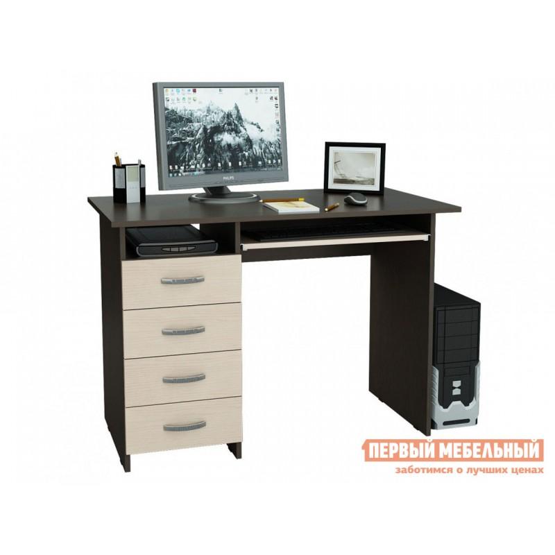 Компьютерный стол  Стол письменный Милан-3 (0120) Венге / Дуб Молочный