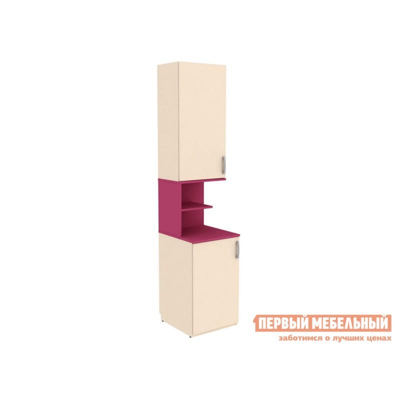 Шкаф детский  Шкаф со вставкой Дарина АРТ. УШ02 Песок / Розовый