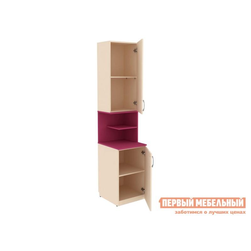 Шкаф детский  Шкаф со вставкой Дарина АРТ. УШ02 Песок / Розовый (фото 2)