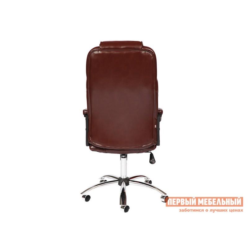 Кресло руководителя  BERGAMO CHROME Иск. кожа коричневая 2 TONE (фото 4)