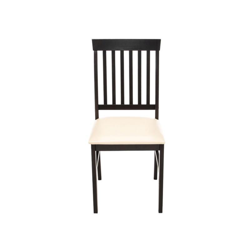 Обеденная группа для столовой и гостиной  Обеденная группа Luar (стол и 4 стула) Бежевый, кожзам / Капучино (фото 10)