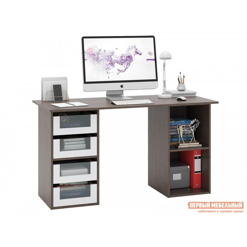 Письменный стол  Прайм-64 Венге / Белый