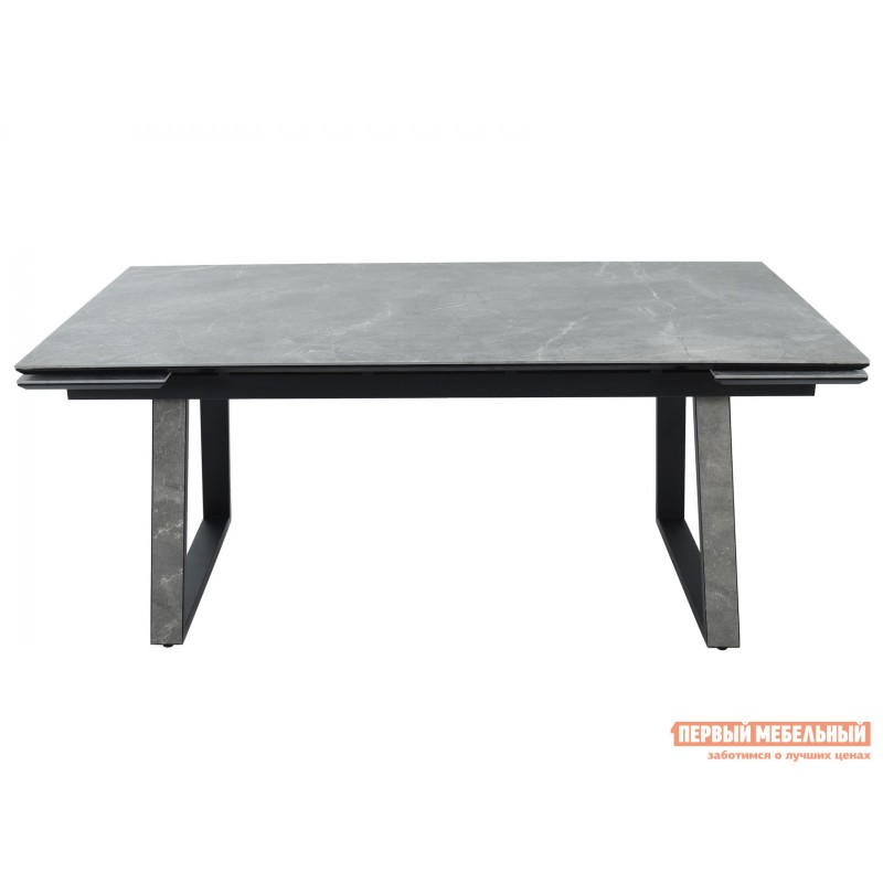 Кухонный стол  Монако Bayona grey / Черный, металл (фото 2)