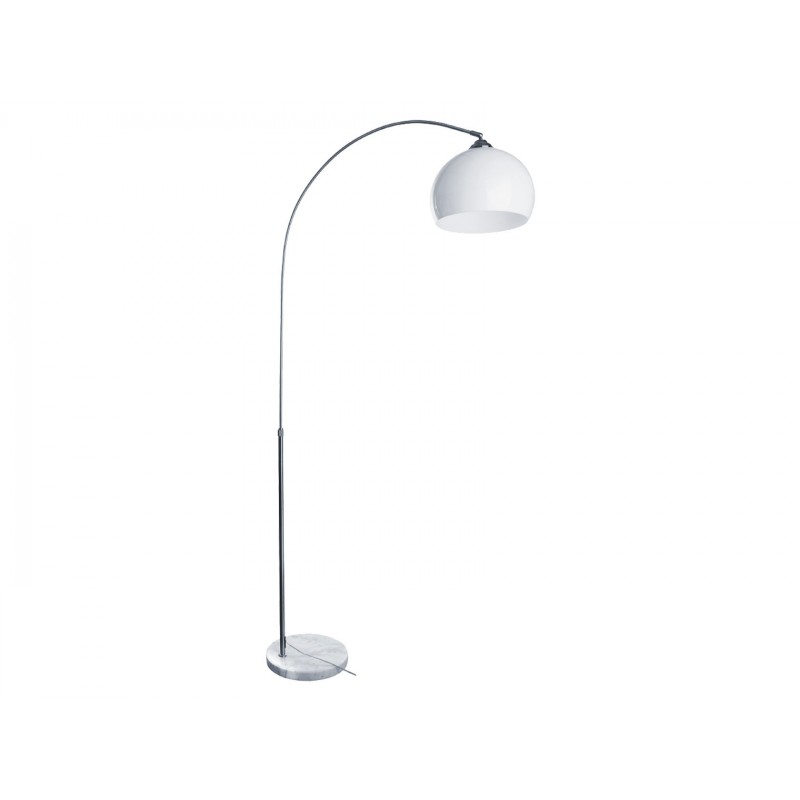 Торшер  A5823PN-1SS Серебро / Белый