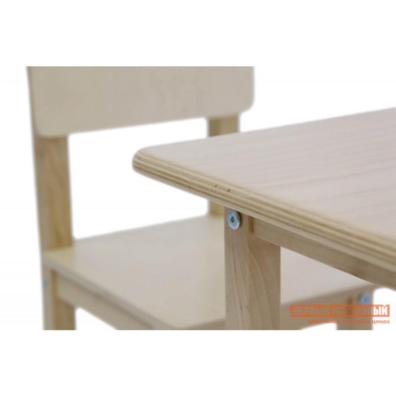 Столик и стульчик  Комплект детской мебели Polini kids Simple 105 S Натуральный (фото 2)