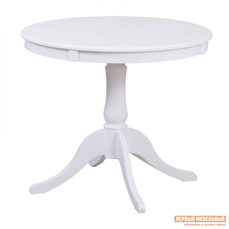 Обеденная группа для столовой и гостиной  Стол Амадей + 4 стула Лион Белый матовый (фото 3)