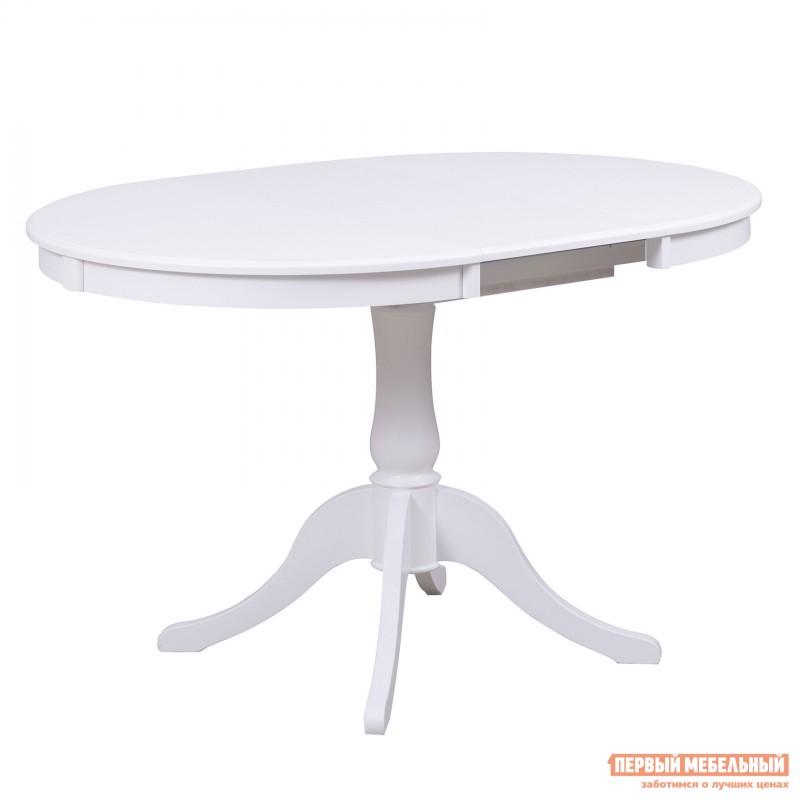 Обеденная группа для столовой и гостиной  Стол Амадей + 4 стула Лион Белый матовый (фото 4)