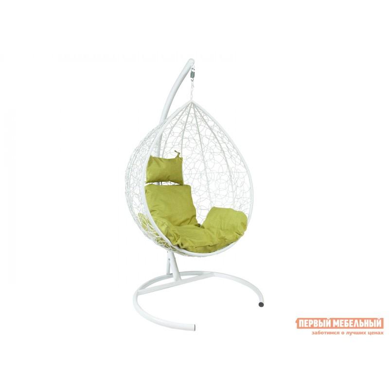 Подвесное кресло  Подвесное кресло Z-10 Белый, ротанг / Зеленый, ткань