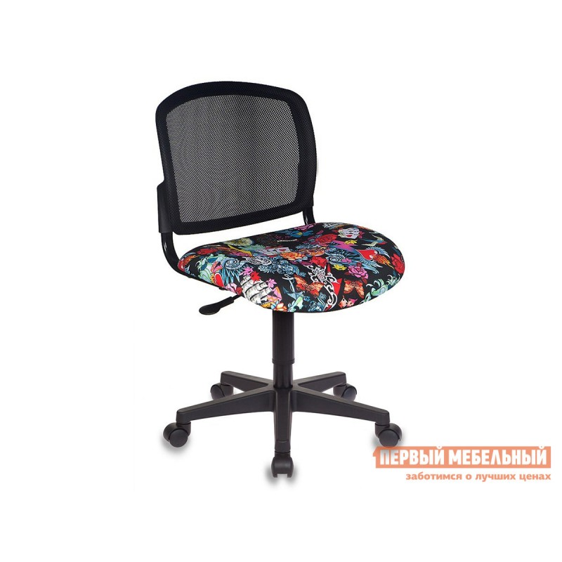Детское компьютерное кресло  CH-296NX TATTOO / Спинка сетка черный