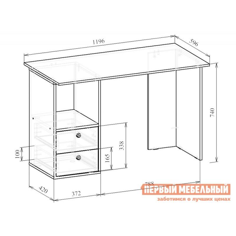 Письменный стол  Прайм-43 Венге / Дуб молочный (фото 3)