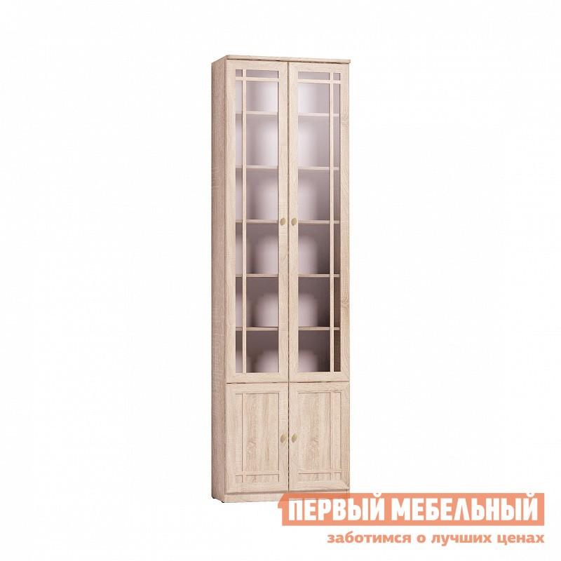 Шкаф-витрина  Sherlock 32 (библиотека) Шкаф для книг Дуб Сонома