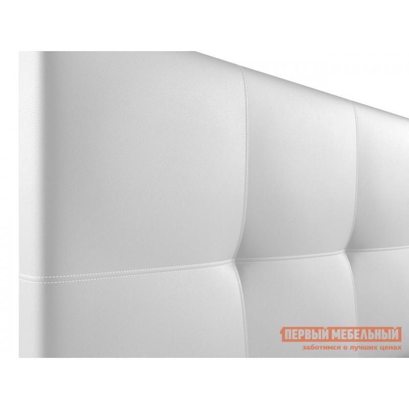 Двуспальная кровать  Верда Белый, экокожа , 160х200 см (фото 5)