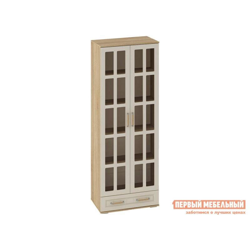 Шкаф-витрина  Шкаф витрина Маркиза Дуб Сонома / Крем Сатин