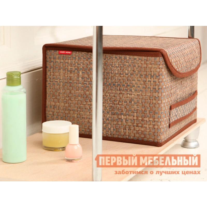 Кофр  Коробка для хранения с крышкой 25х27х20см Бежевый (фото 3)