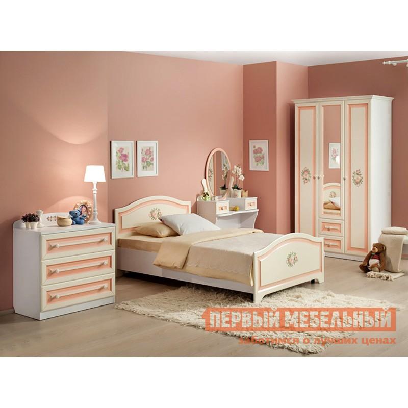 Детская кровать   Алиса (Кровать 1,2х2,0) МКА-010 Белый / Крем (фото 3)
