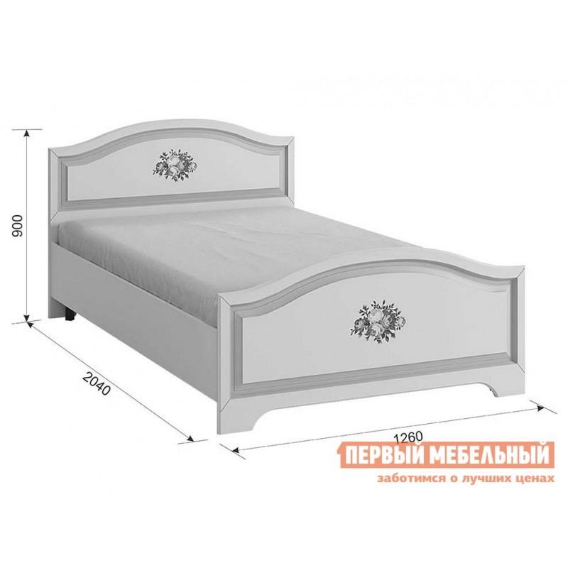 Детская кровать   Алиса (Кровать 1,2х2,0) МКА-010 Белый / Крем (фото 5)