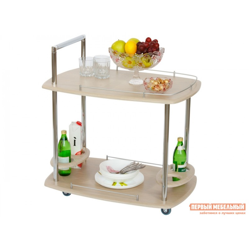 Сервировочный столик  Стол сервировочный Банкет Дуб беленый