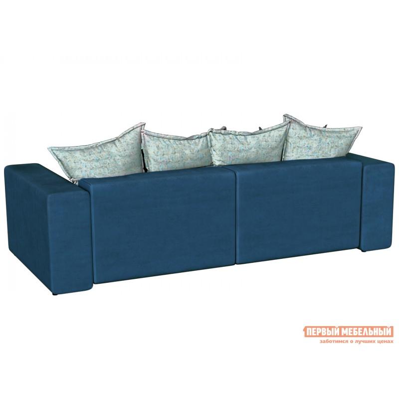 Прямой диван  Диван Берн Люкс Синий, велюр (фото 2)