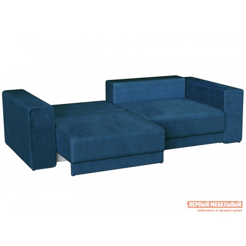 Прямой диван  Диван Берн Люкс Синий, велюр (фото 3)