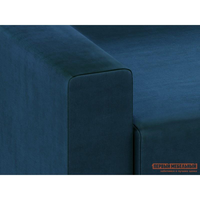 Прямой диван  Диван Берн Люкс Синий, велюр (фото 7)