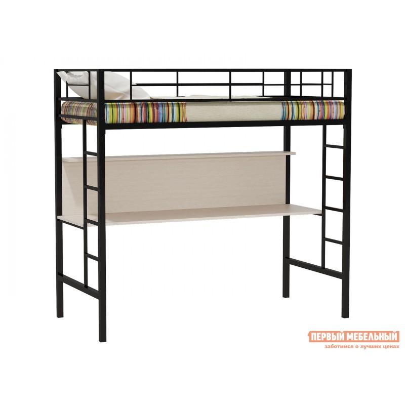 Кровать-чердак  Севилья-1 Черный / Молочный дуб