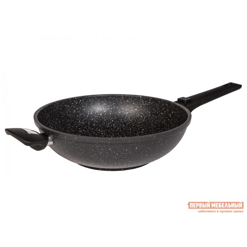 Сковорода  Сковорода CASTA AVRORA ВОК 28 см, 3,8л  литая. Съёмная ручка Черный мрамор