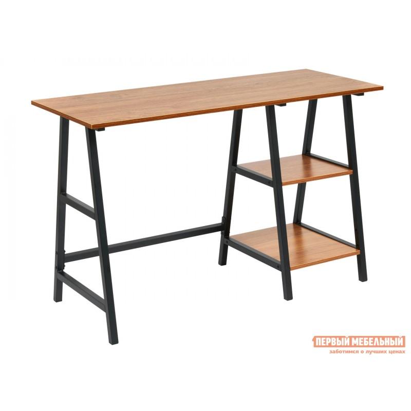 Письменный стол  WD-02 Коричневый, ЛДСП / Черный, металл