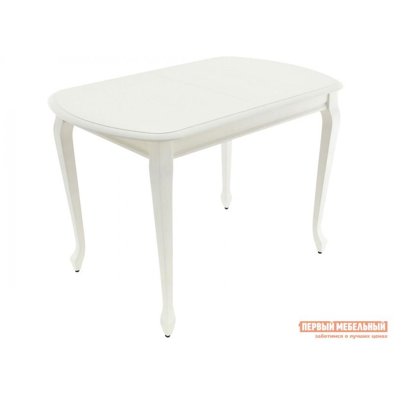 Кухонный стол  Стол раздвижной Прага Белая эмаль, Малый