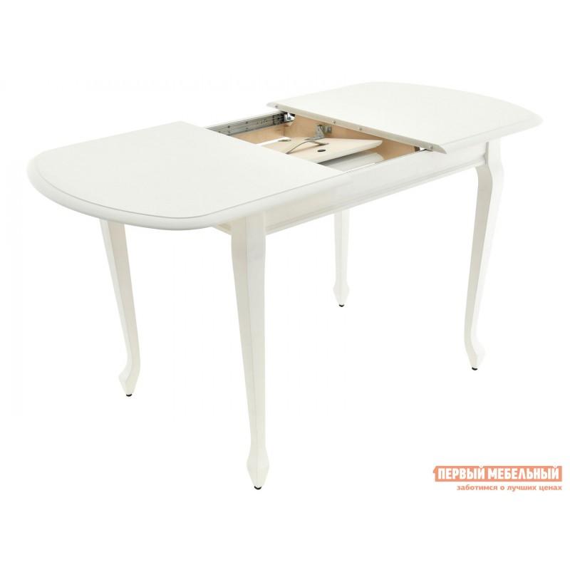 Кухонный стол  Стол раздвижной Прага Белая эмаль, Малый (фото 2)
