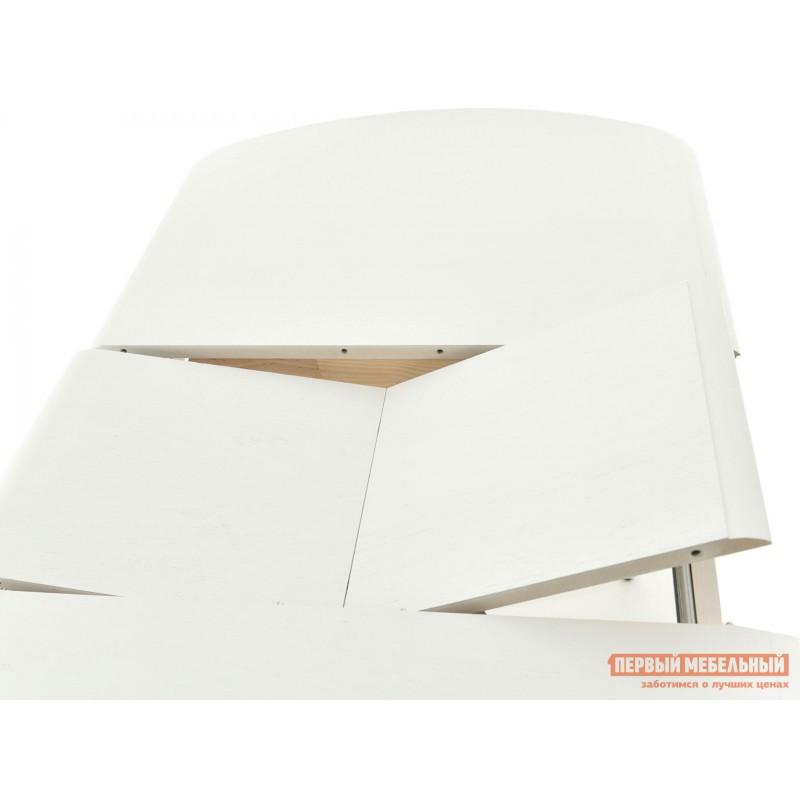 Кухонный стол  Стол раздвижной Прага Белая эмаль, Малый (фото 4)