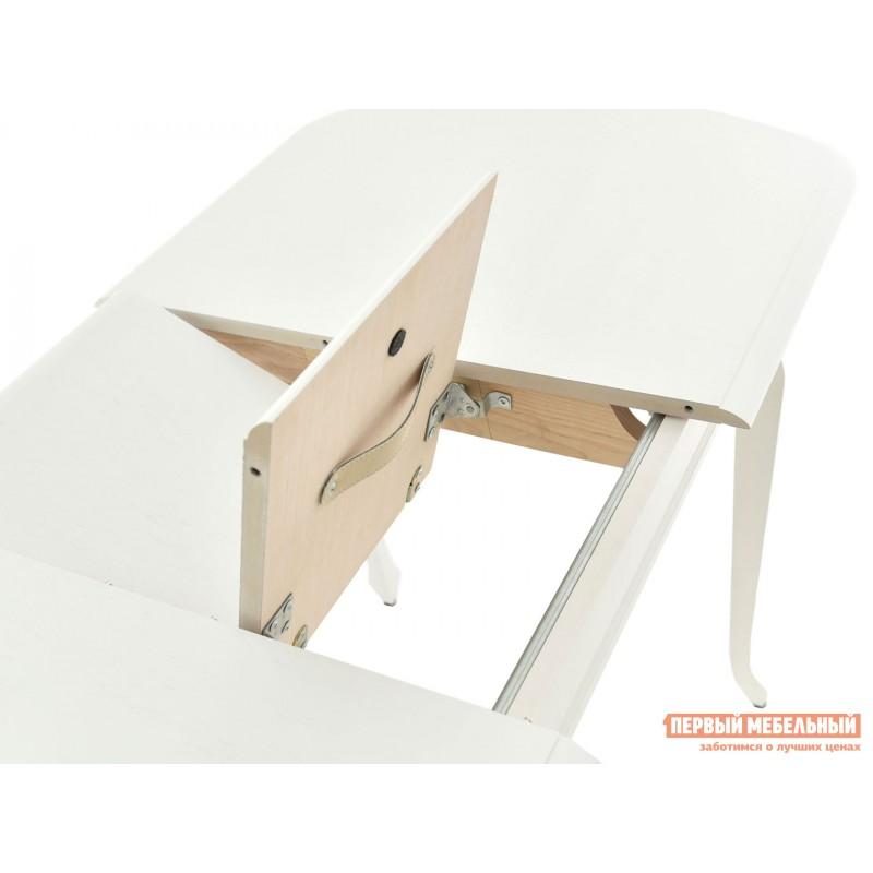 Кухонный стол  Стол раздвижной Прага Белая эмаль, Малый (фото 5)