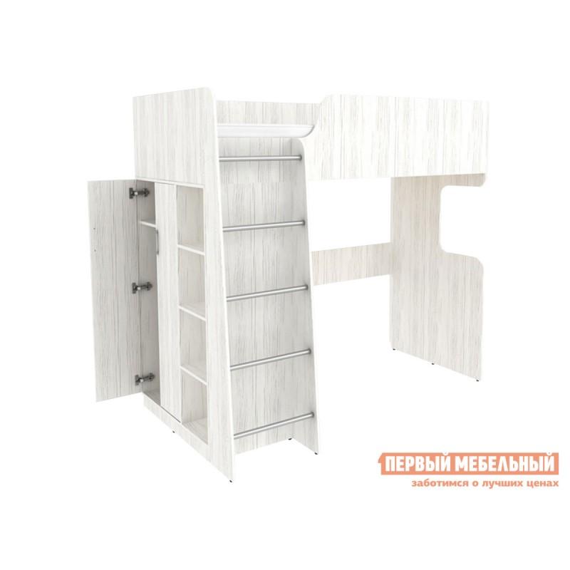 Кровать-чердак  Кровать двухъярусная Дарина АРТ.УК03 Арктика (фото 2)