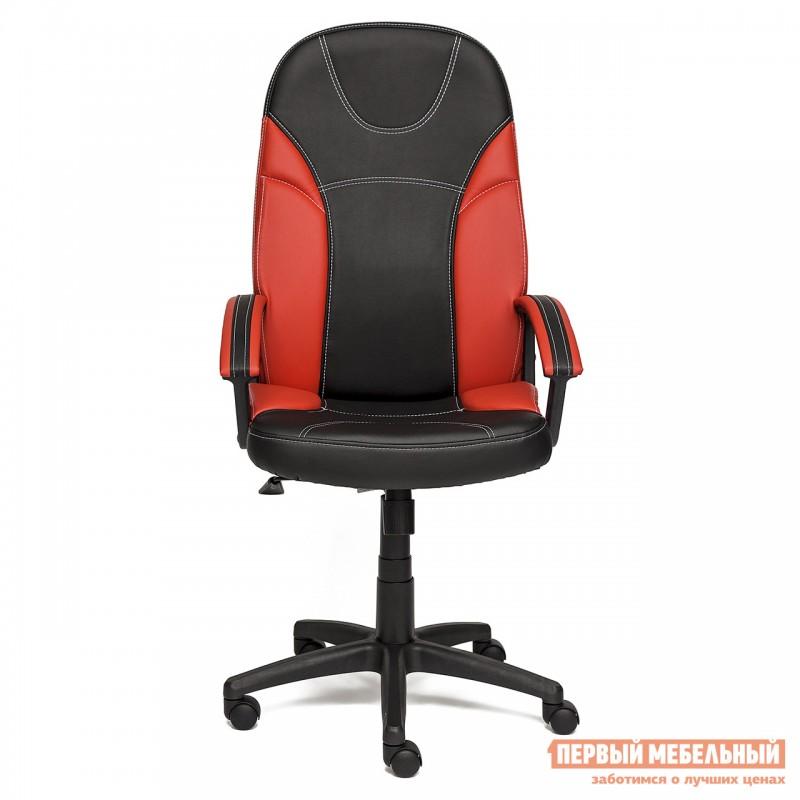 Кресло руководителя  Twister Иск. кожа черная / красная (фото 2)