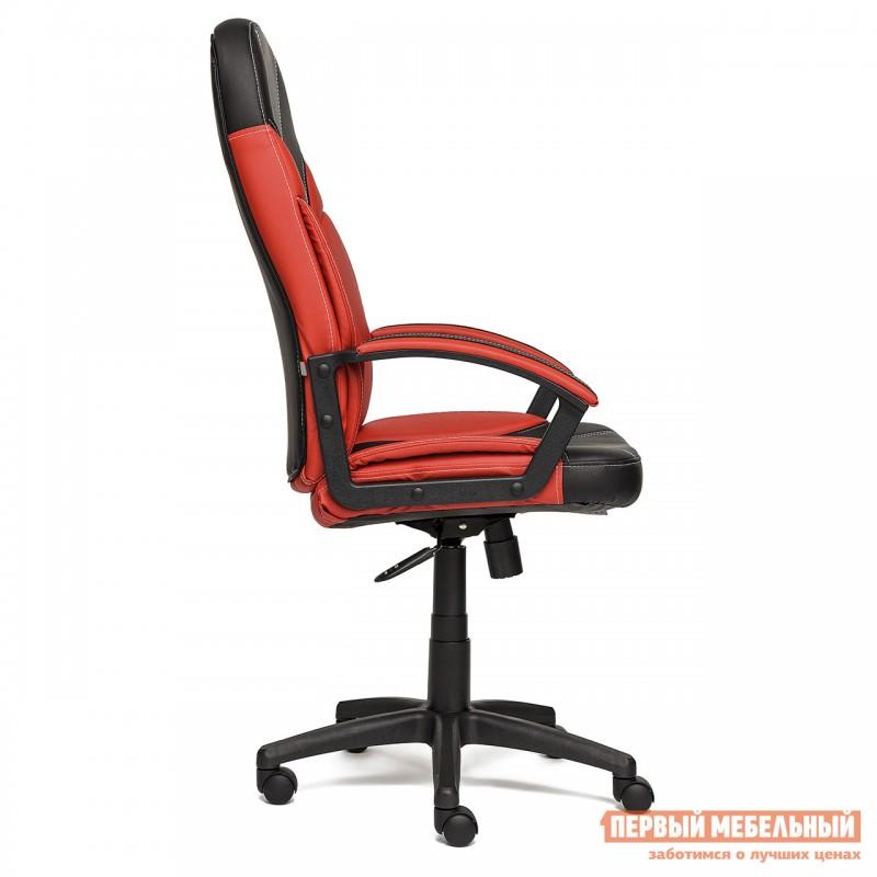 Кресло руководителя  Twister Иск. кожа черная / красная (фото 3)