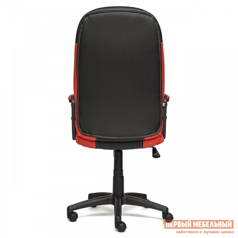 Кресло руководителя  Twister Иск. кожа черная / красная (фото 4)