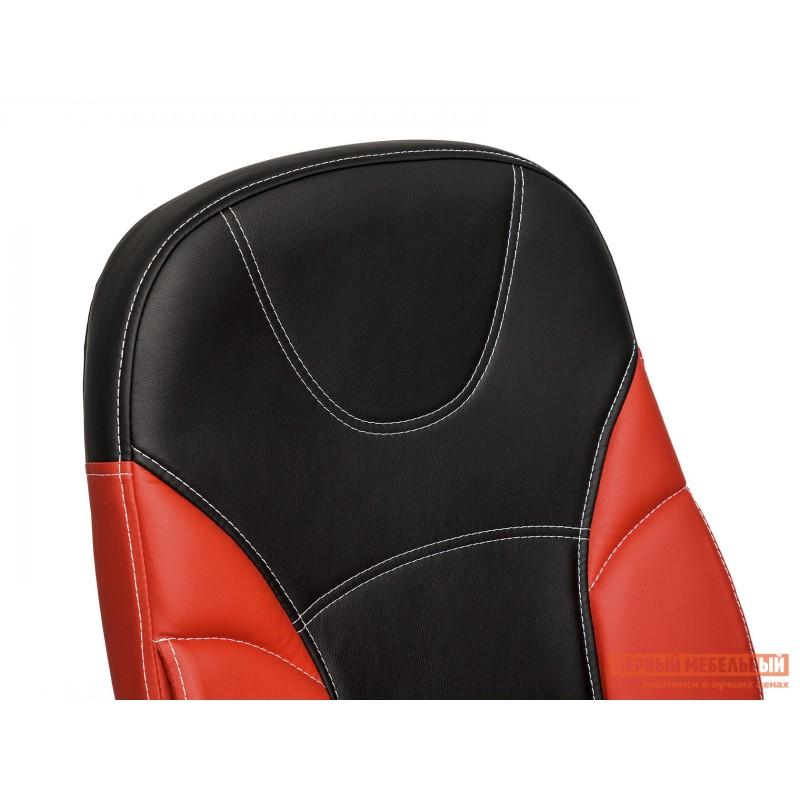 Кресло руководителя  Twister Иск. кожа черная / красная (фото 6)