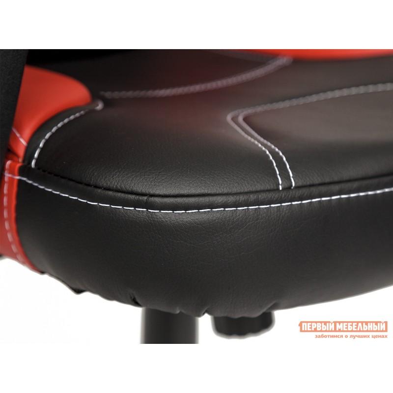 Кресло руководителя  Twister Иск. кожа черная / красная (фото 7)