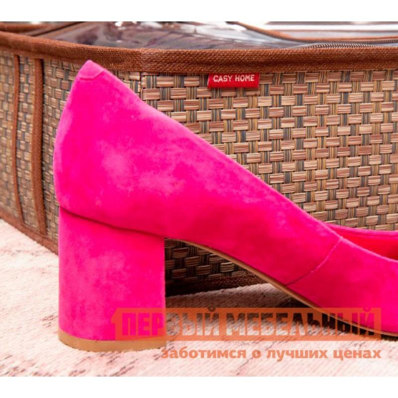 Кофр  Органайзер для обуви 4 ячейки 28х56х12см Бежевый (фото 4)