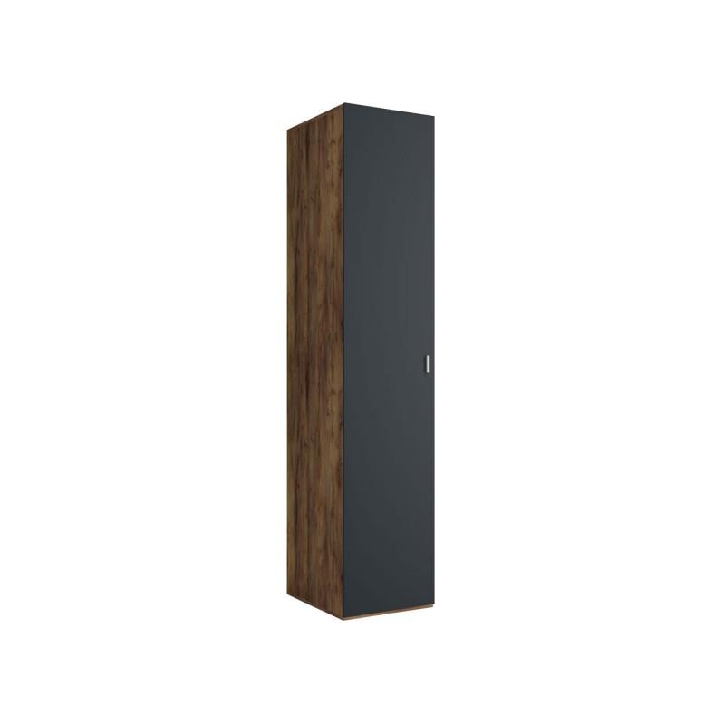 Распашной шкаф  Шкаф-пенал Вега Бавария Таксония медовая / Антрацит, Без зеркала