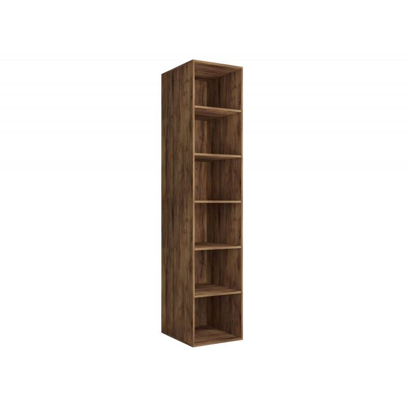 Распашной шкаф  Шкаф-пенал Вега Бавария Таксония медовая / Антрацит, Без зеркала (фото 3)