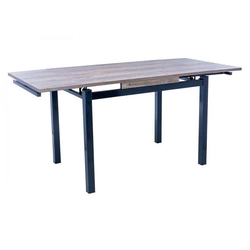 Кухонный стол  Стол раздвижной Leset Париж 2Р Черный / Дуб лофт (фото 2)