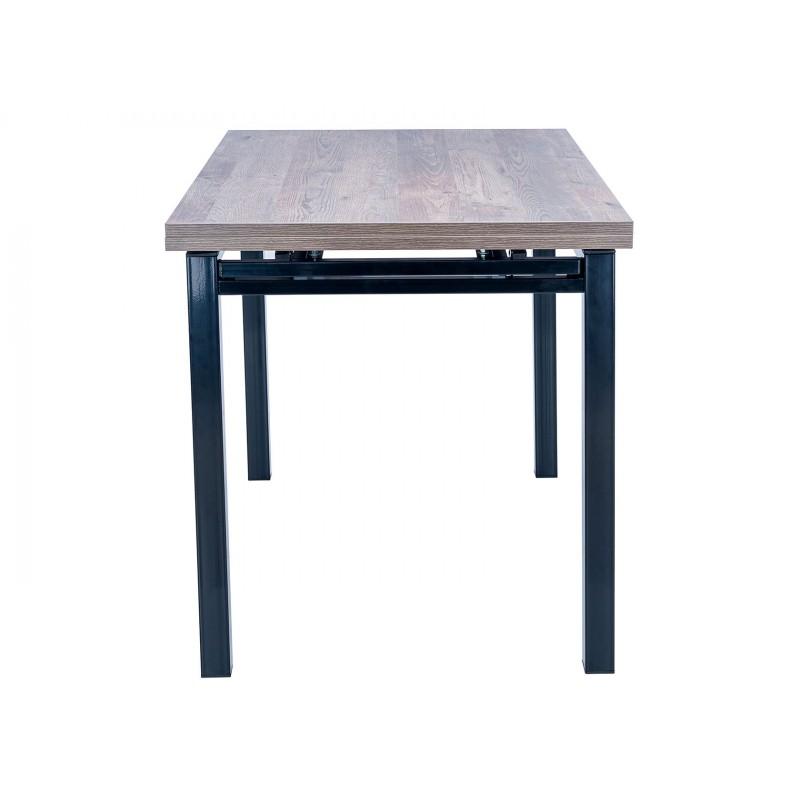 Кухонный стол  Стол раздвижной Leset Париж 2Р Черный / Дуб лофт (фото 4)