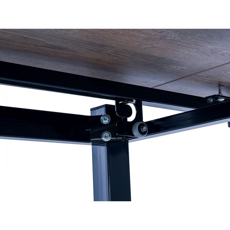 Кухонный стол  Стол раздвижной Leset Париж 2Р Черный / Дуб лофт (фото 5)