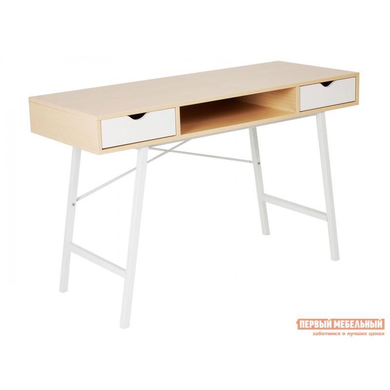 Письменный стол  WD-04 Бежевый, ЛДСП / Белый, металл
